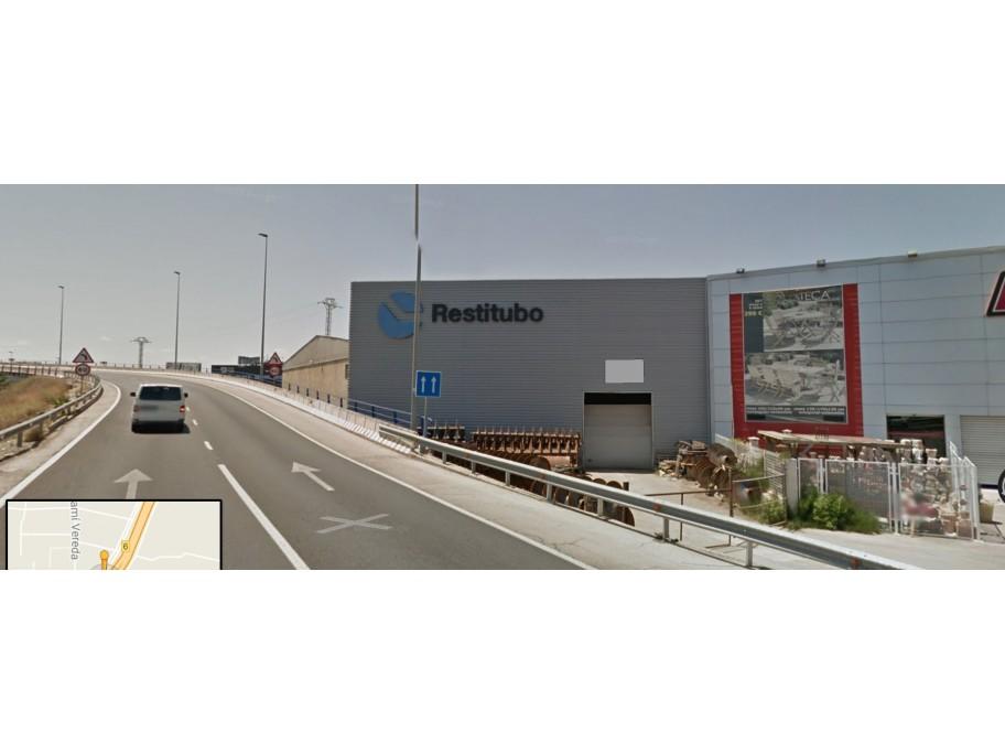 Nave industrial. Beniparrell. Valencia. Fachada Pista de Silla